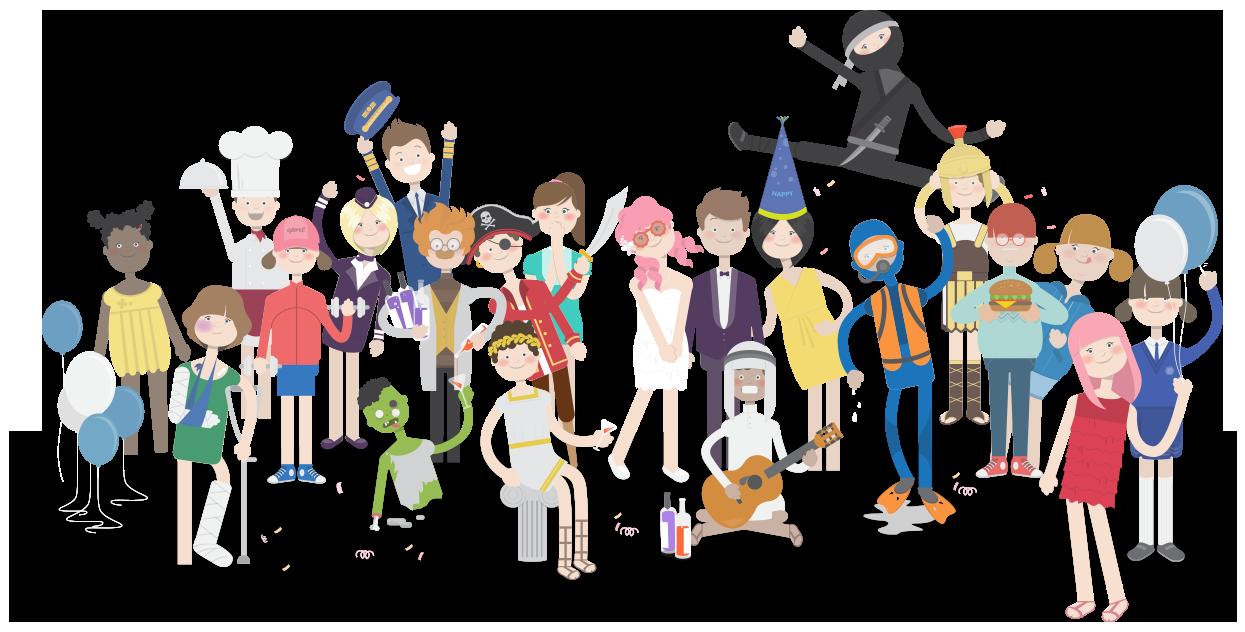 Team van hoofdrolspelers